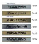 Rawalpindi Clock Name Plate |World Time Zone City Wall clocks Sign custom Plaque